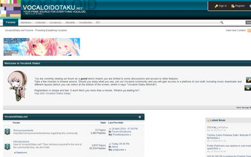 Access vocaloidotaku.net using Hola Unblocker web proxy