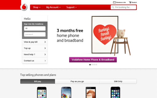 Access vodafone.ie using Hola Unblocker web proxy