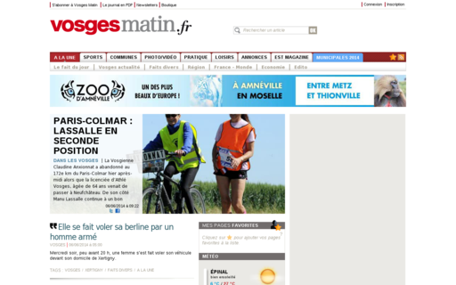 Access vosgesmatin.fr using Hola Unblocker web proxy
