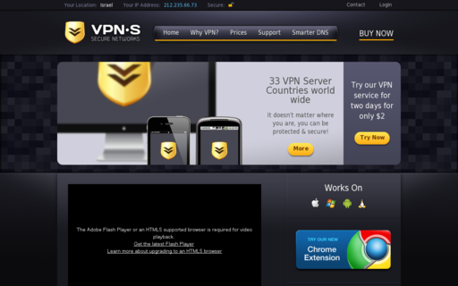 Access vpnsecure.me using Hola Unblocker web proxy