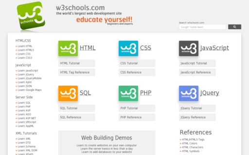 Access w3schools.com using Hola Unblocker web proxy
