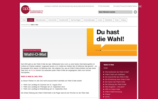 Access wahl-o-mat.de using Hola Unblocker web proxy