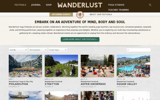 Access wanderlustfestival.com using Hola Unblocker web proxy