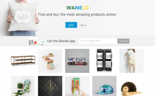 Access wanelo.com using Hola Unblocker web proxy