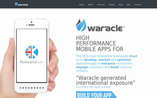 Access waracle.com using Hola Unblocker web proxy
