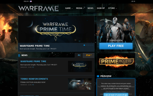 Access warframe.com using Hola Unblocker web proxy