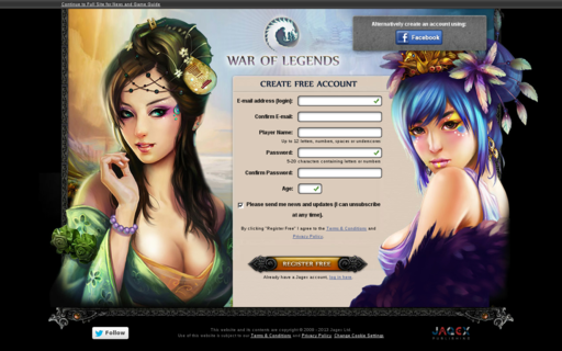 Access waroflegends.com using Hola Unblocker web proxy