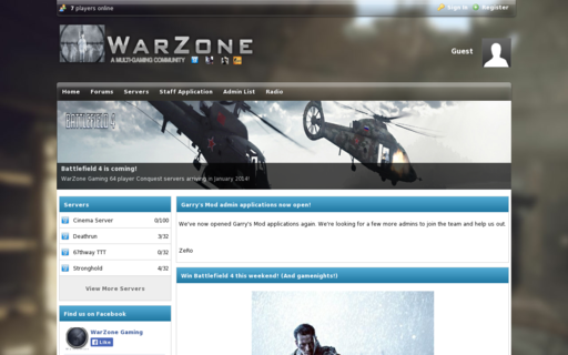 Access warzone-gaming.co.uk using Hola Unblocker web proxy