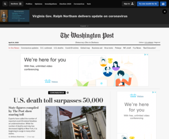 Access washingtonpost.com using Hola Unblocker web proxy