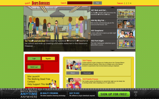 Access watchbobsburgersonline.com using Hola Unblocker web proxy