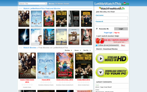 Access watchfreemovies.ch using Hola Unblocker web proxy