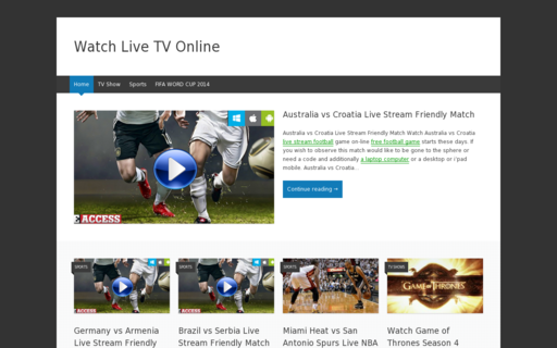 Access watchonlinelivetv.com using Hola Unblocker web proxy