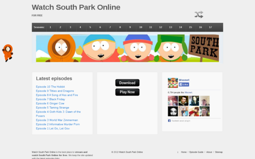 Access watchsouthparkonline.net using Hola Unblocker web proxy