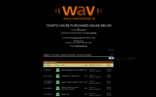 Access wavtickets.ie using Hola Unblocker web proxy