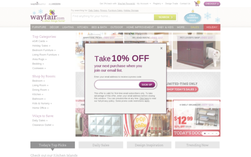 Access wayfair.com using Hola Unblocker web proxy