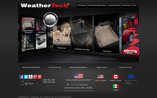 Access weathertech.com using Hola Unblocker web proxy