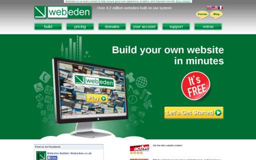 Access webeden.co.uk using Hola Unblocker web proxy