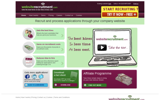 Access websiterecruitment.com using Hola Unblocker web proxy