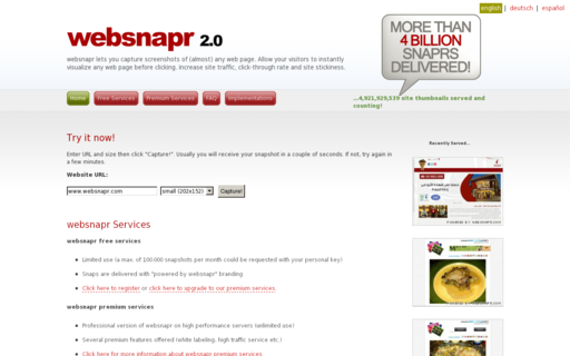 Access websnapr.com using Hola Unblocker web proxy