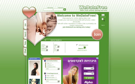 Access wedatefree.com using Hola Unblocker web proxy