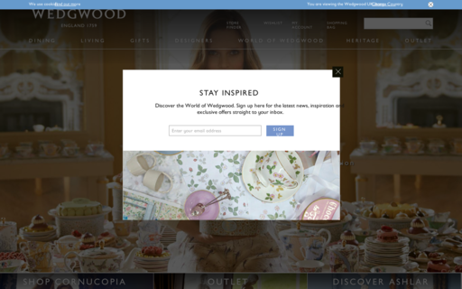 Access wedgwood.co.uk using Hola Unblocker web proxy