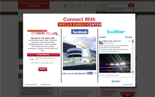 Access wellsfargocenterphilly.com using Hola Unblocker web proxy