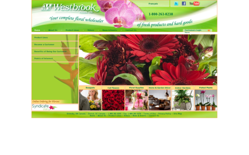 Access westbrookfloral.com using Hola Unblocker web proxy