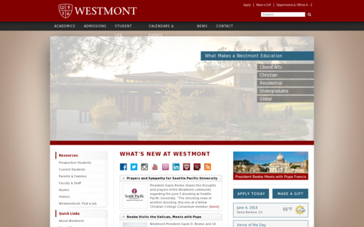 Access westmont.edu using Hola Unblocker web proxy
