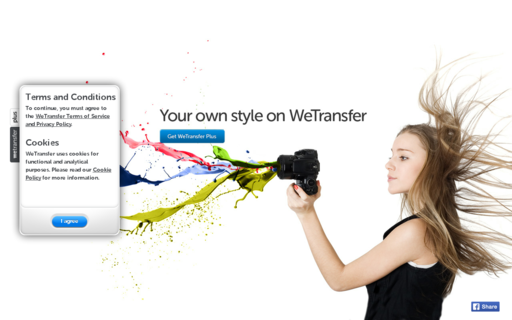 Access wetransfer.com using Hola Unblocker web proxy