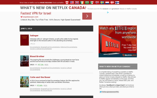 Access whatsnewonnetflix.com using Hola Unblocker web proxy
