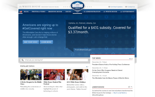 Access whitehouse.gov using Hola Unblocker web proxy
