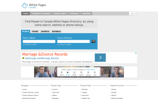 Access whitepagescanada.ca using Hola Unblocker web proxy
