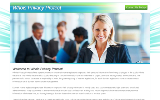 Access whoisprivacyprotect.com using Hola Unblocker web proxy