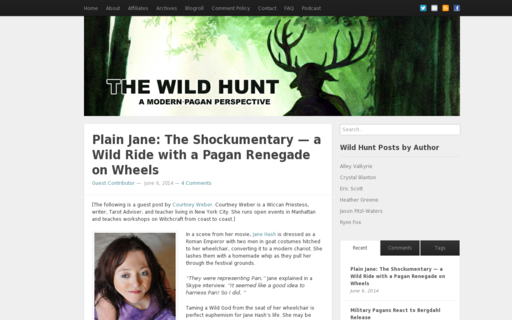 Access wildhunt.org using Hola Unblocker web proxy