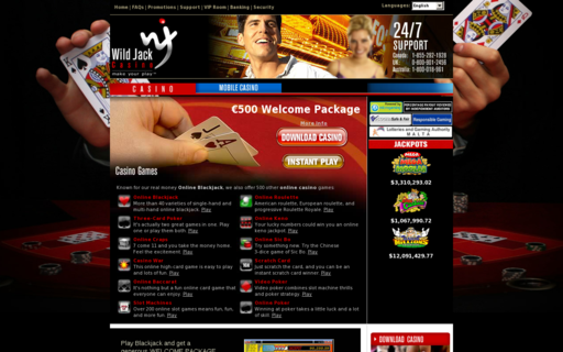 Access wildjackcasino.com using Hola Unblocker web proxy