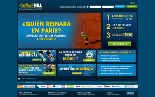 Access williamhill.es using Hola Unblocker web proxy