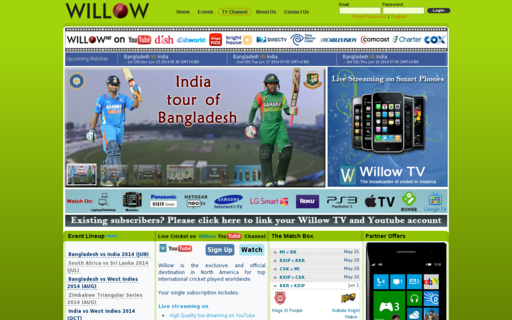 Access willow.tv using Hola Unblocker web proxy