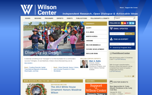 Access wilsoncenter.org using Hola Unblocker web proxy