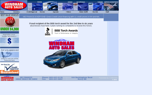 Access windhamautosales.com using Hola Unblocker web proxy