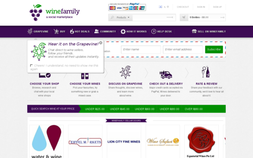 Access wine-family.com using Hola Unblocker web proxy