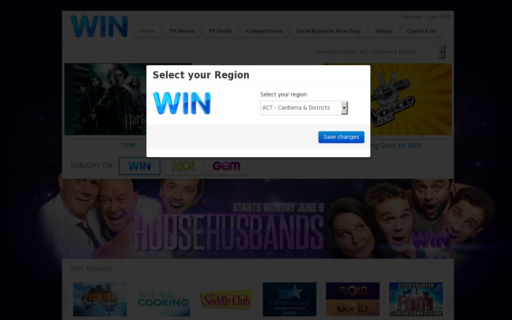 Access wintv.com.au using Hola Unblocker web proxy