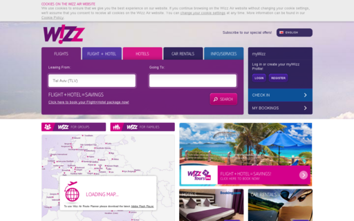 Access wizzair.com using Hola Unblocker web proxy