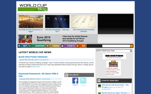 Access worldcupblog.org using Hola Unblocker web proxy