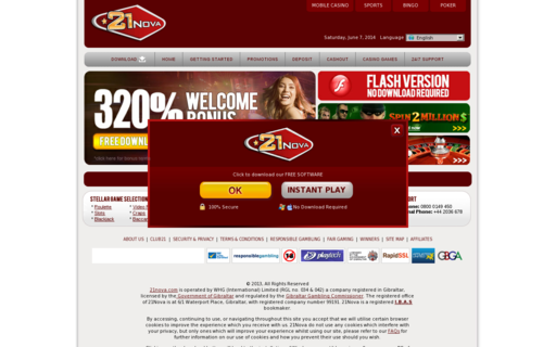 Access www.21nova.com using Hola Unblocker web proxy