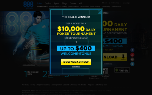 Access www.888poker.com using Hola Unblocker web proxy