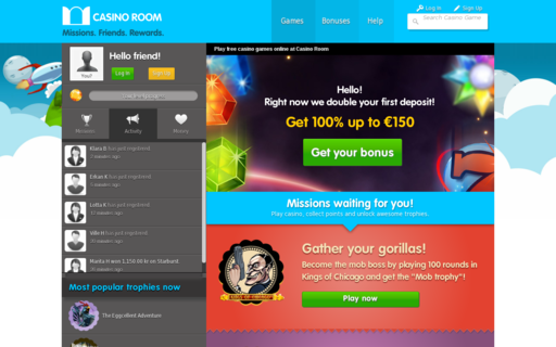 Access www.casinoroom.com using Hola Unblocker web proxy