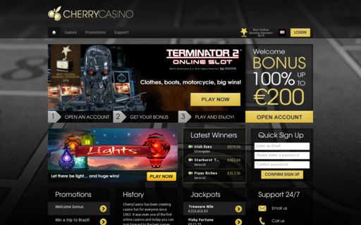 Access www.cherrycasino.com using Hola Unblocker web proxy