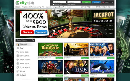 Access www.cityclubcasino.com using Hola Unblocker web proxy