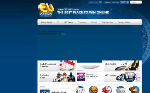 Access www.eucasino.com using Hola Unblocker web proxy
