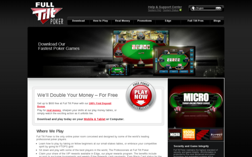 Access www.fulltiltpoker.com using Hola Unblocker web proxy